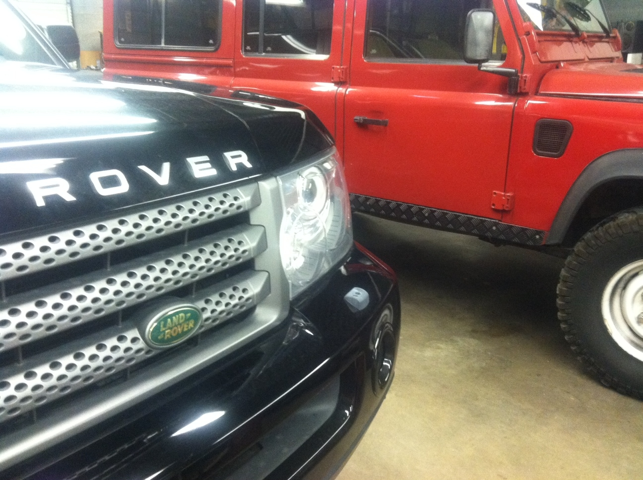 Land Rover Defenders to Sports